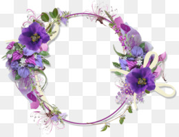 Borders And Frames, Flower, Flower Bouquet, Purple, Violet PNG image with transparent background