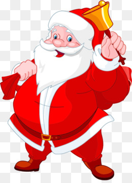 Santa Claus, Rudolph, Christmas Day, Red PNG image with transparent background