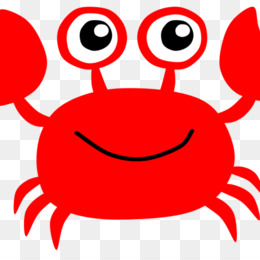 Crab, Lobster, Tshirt, Red, Smile PNG image with transparent background
