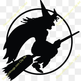 Halloween, Witchcraft, Sticker, Black And White, Fictional Character PNG image with transparent background