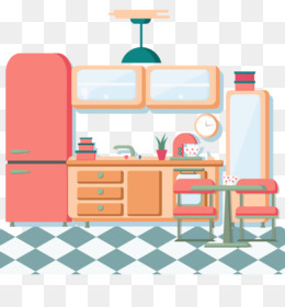 Kitchen, Cooking, Room, Furniture, Line PNG image with transparent background