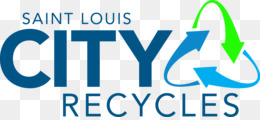 Saint Louis City Recycles, St Louis Refuse Division, St Charles County Missouri, Blue, Text PNG image with transparent background