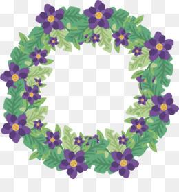Flower, Floral Design, Wreath, Violet PNG image with transparent background