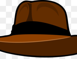 Fedora, Indiana Jones, Logo, Hat, Headgear PNG image with transparent background