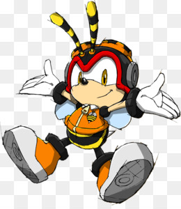 Sonic Heroes, Charmy Bee, Sonic The Hedgehog, Membrane Winged Insect, Line PNG image with transparent background