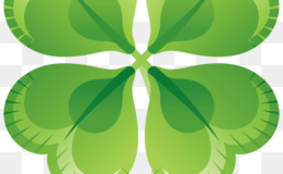 Shamrock, Saint Patricks Day, Fourleaf Clover, Green, Leaf PNG image with transparent background