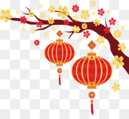 Chinese New Year, New Year, Lantern Festival, Red, Lantern PNG image with transparent background