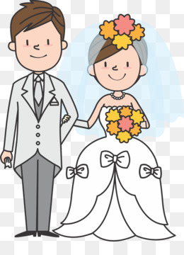 Wedding, Marriage, Bridegroom, Cartoon, People PNG image with transparent background