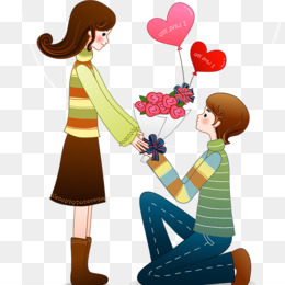 Marriage Proposal, Romance, Love, Cartoon PNG image with transparent background