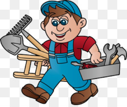Handyman, Job, Service, Cartoon, Construction Worker PNG image with transparent background