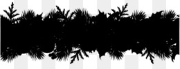 Borders And Frames, Christmas Day, Garland, Tree, Black PNG image with transparent background