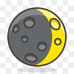 Computer Icons, Moon, Crescent, Yellow, Circle PNG image with transparent background
