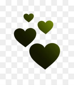 Heart, M095, Green PNG image with transparent background