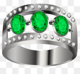 Earring, Ring, Emerald, Green, Gemstone PNG image with transparent background
