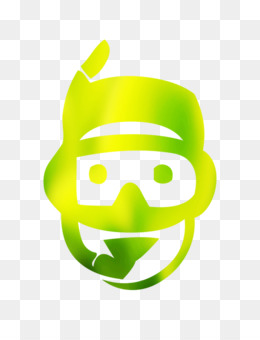Smiley, Logo, Character, Green, Head PNG image with transparent background