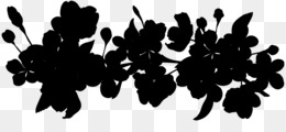 Silhouette, Leaf, Flower, Plant PNG image with transparent background