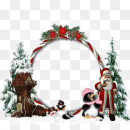 Picture Frames, Christmas Day, Santa Claus, Christmas Decoration, Wreath PNG image with transparent background