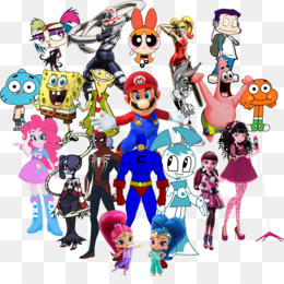 Mickey Mouse, Squidward Tentacles, Spiderman, Cartoon, Fictional Character PNG image with transparent background