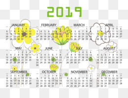 Floral Design, Line, Calendar, Yellow, Text PNG image with transparent background