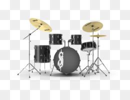 Drum Kit PNG - cartoon-drum-kit drum-kit-black red-drum-kit
